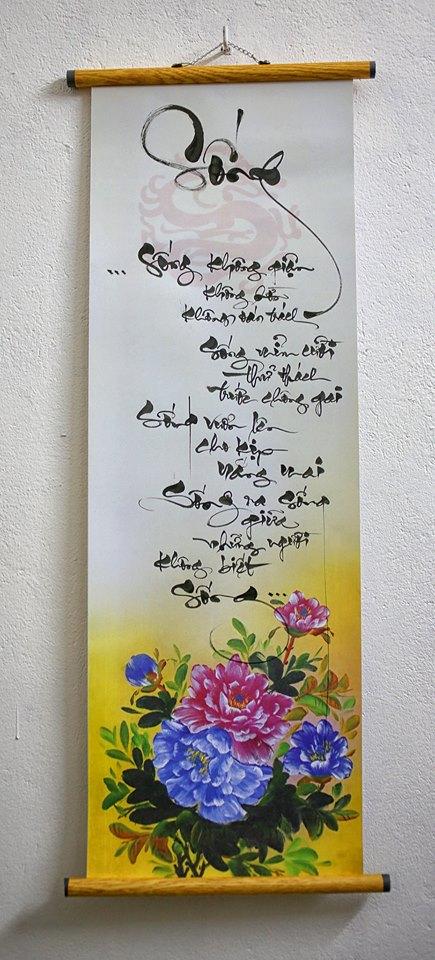 Mẫu tranh vẽ chữ thư pháp