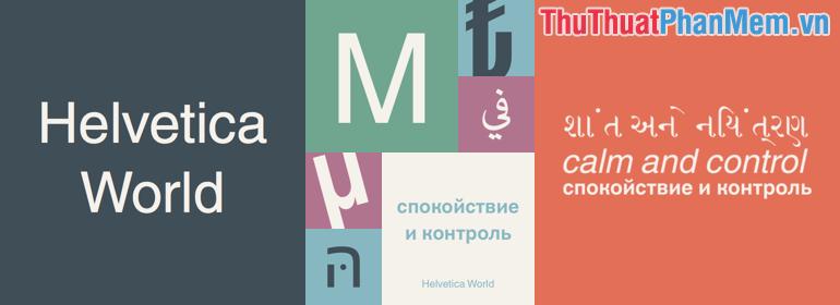 Font chữ Font Helvetica đẹp đã được Việt hóa