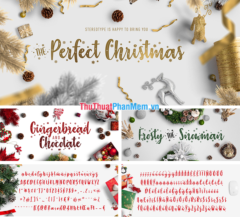 Font chữ thiết kế Banner Giáng sinh