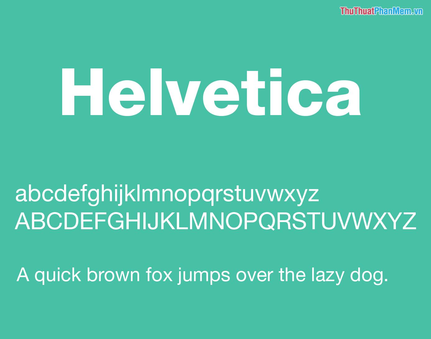 Font Helvetica văn phòng