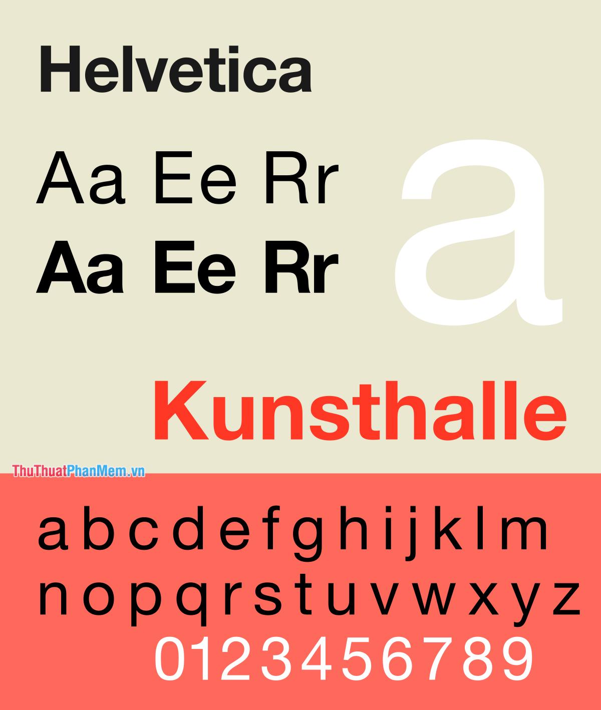 Font Helvetica Việt hóa đẹp