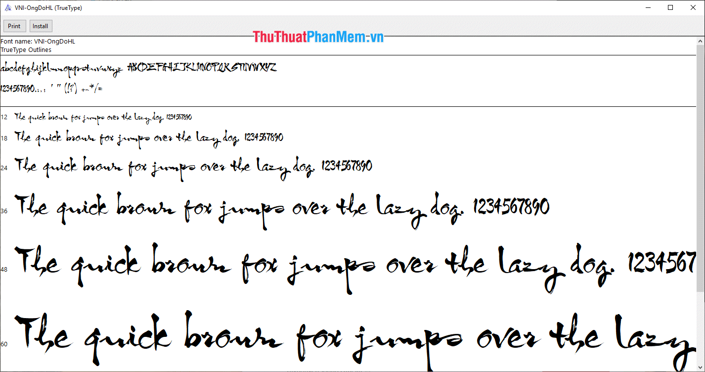 Font thư pháp đẹp 2