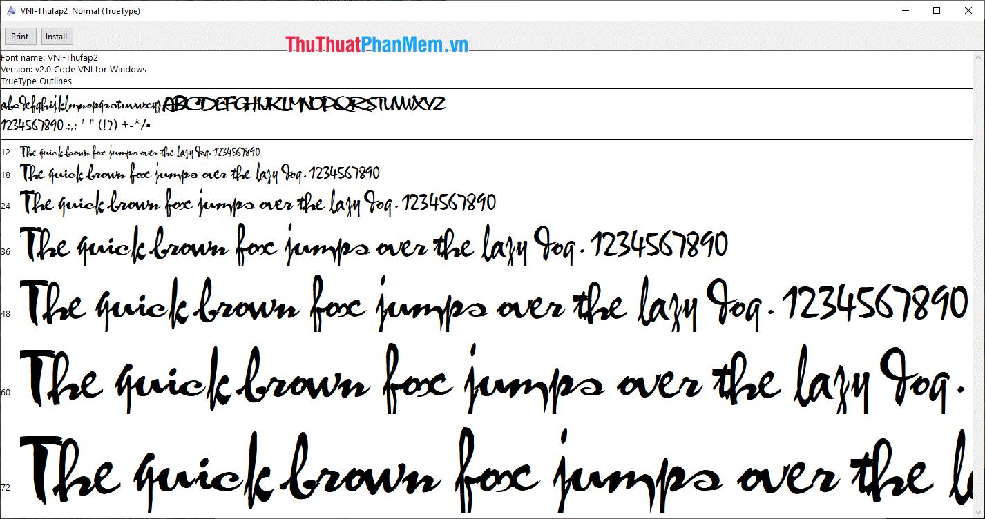 Font thư pháp đẹp nhất