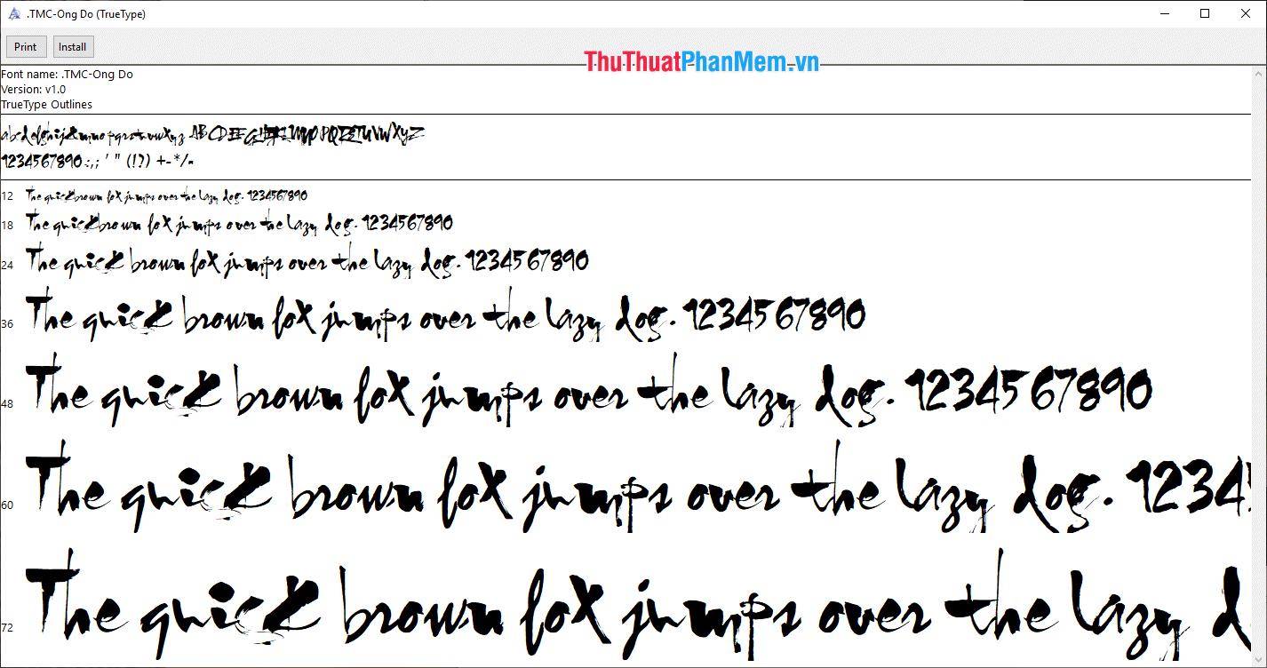 Font Thư pháp đẹp