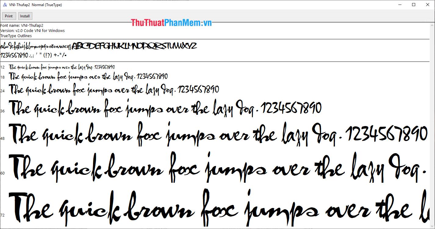 Font thư pháp Xuân đẹp