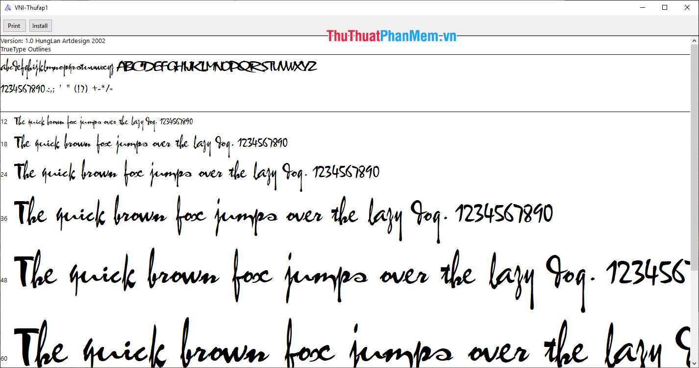 Font thư pháp xuân