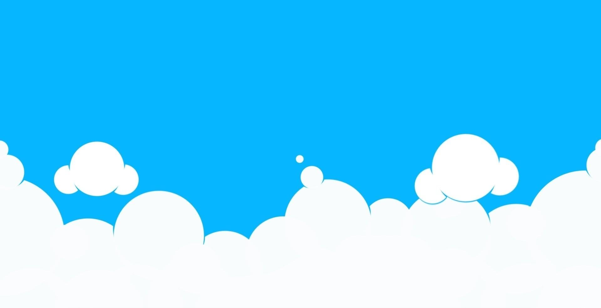 Background mây hoạt hình đẹp