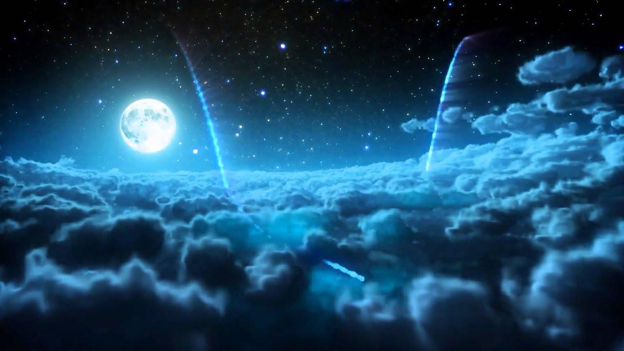 Background mây và trăng