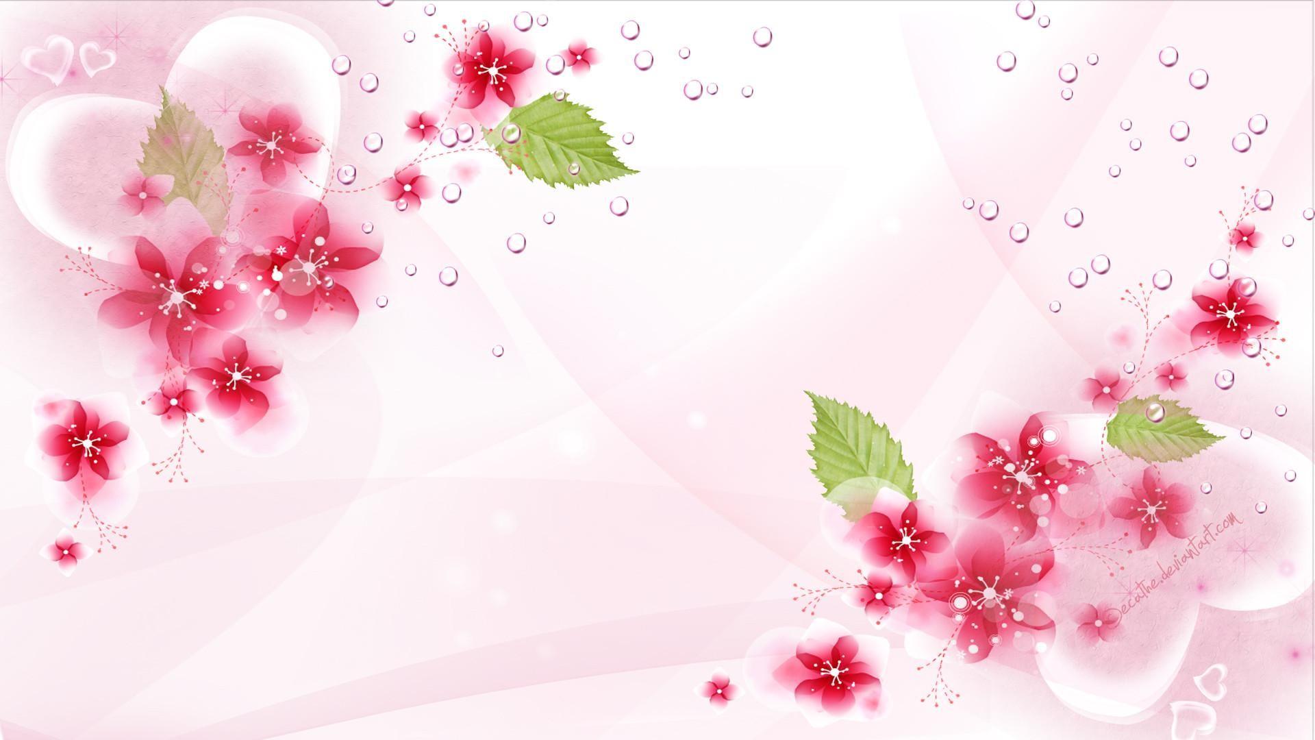Background hoa đẹp màu hồng