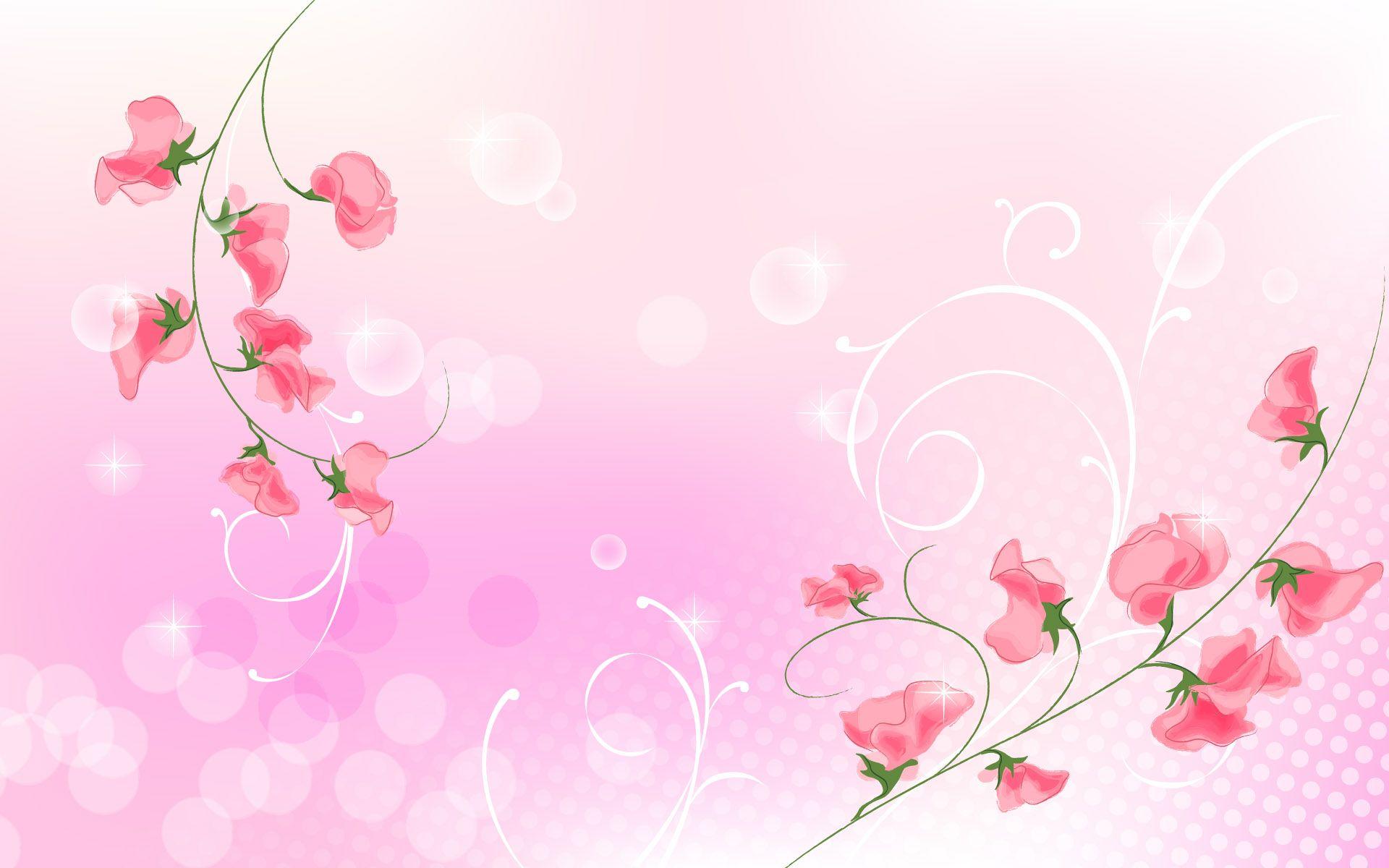 Background hoa màu hồng