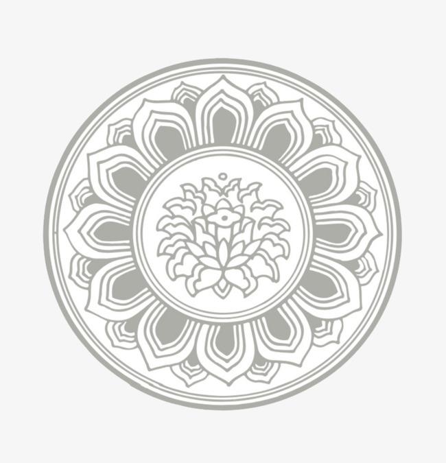Hình tròn hoa văn đẹp