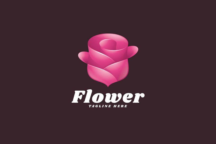 Logo bông hoa hồng