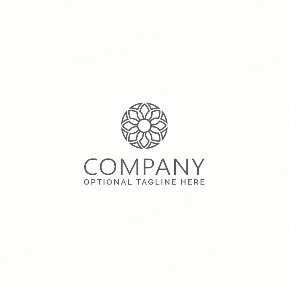 Logo hình bông hoa đơn giản