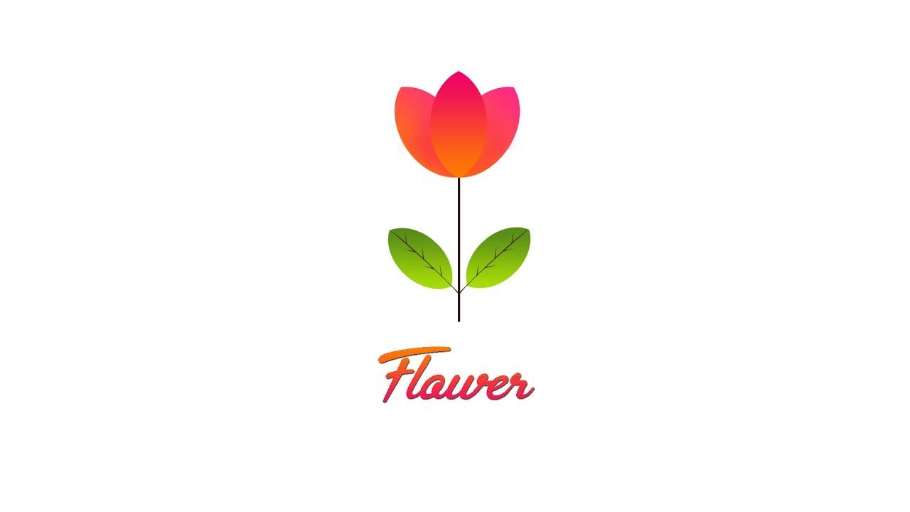 Logo hoa đẹp và đơn giản