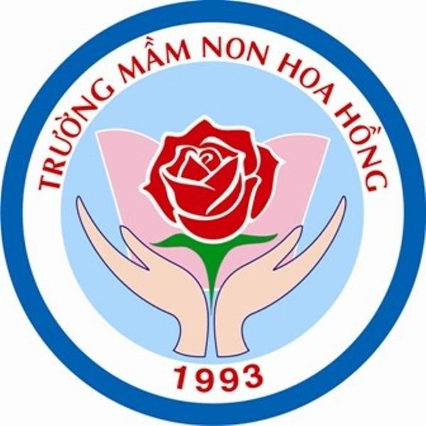 Logo hoa hồng trường mầm non
