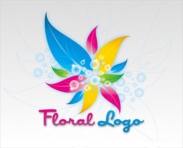 Logo hoa ngũ sắc