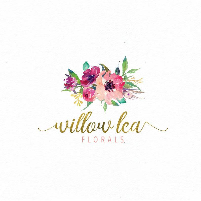 Logo hoa thiết kế đẹp