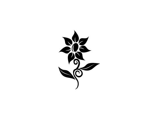Logo hoa văn đen trắng