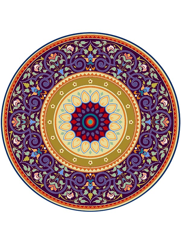 Mẫu hình tròn hoa văn đẹp