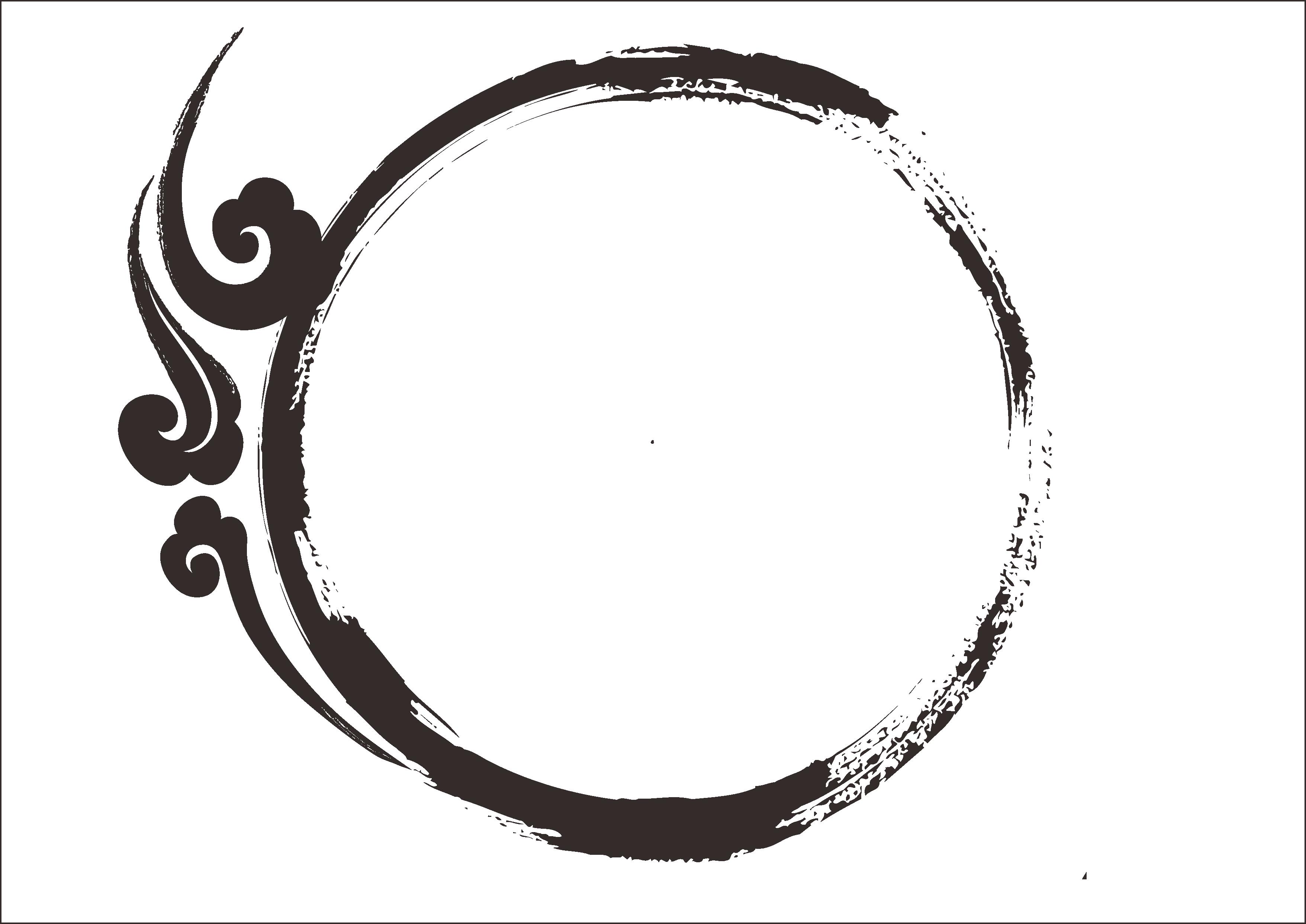Mẫu hình tròn hoa văn