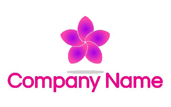 Mẫu logo cánh hoa