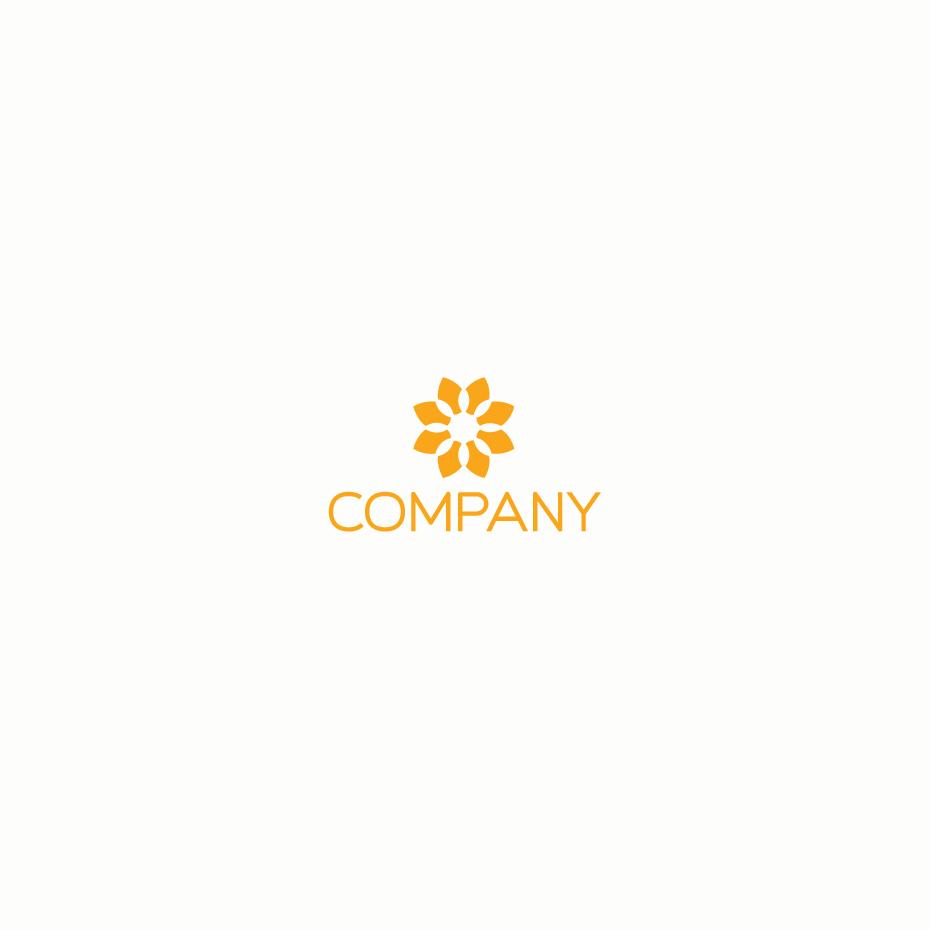 Mẫu logo hoa đơn giản
