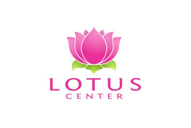 Thiết kế logo hoa sen đơn giản