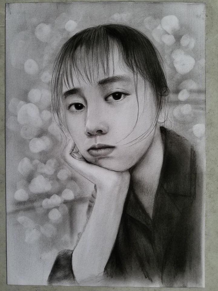 Tranh vẽ chân dung bằng chì