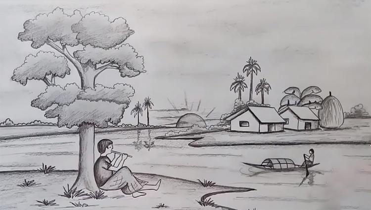 Tranh vẽ chì phong cảnh