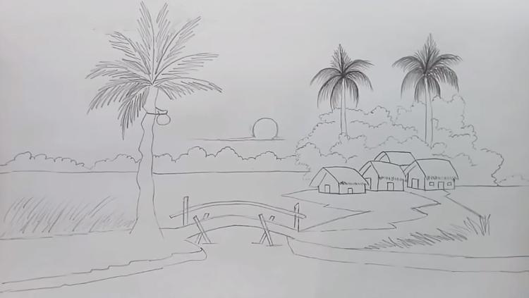 Tranh vẽ phác họa bút chì