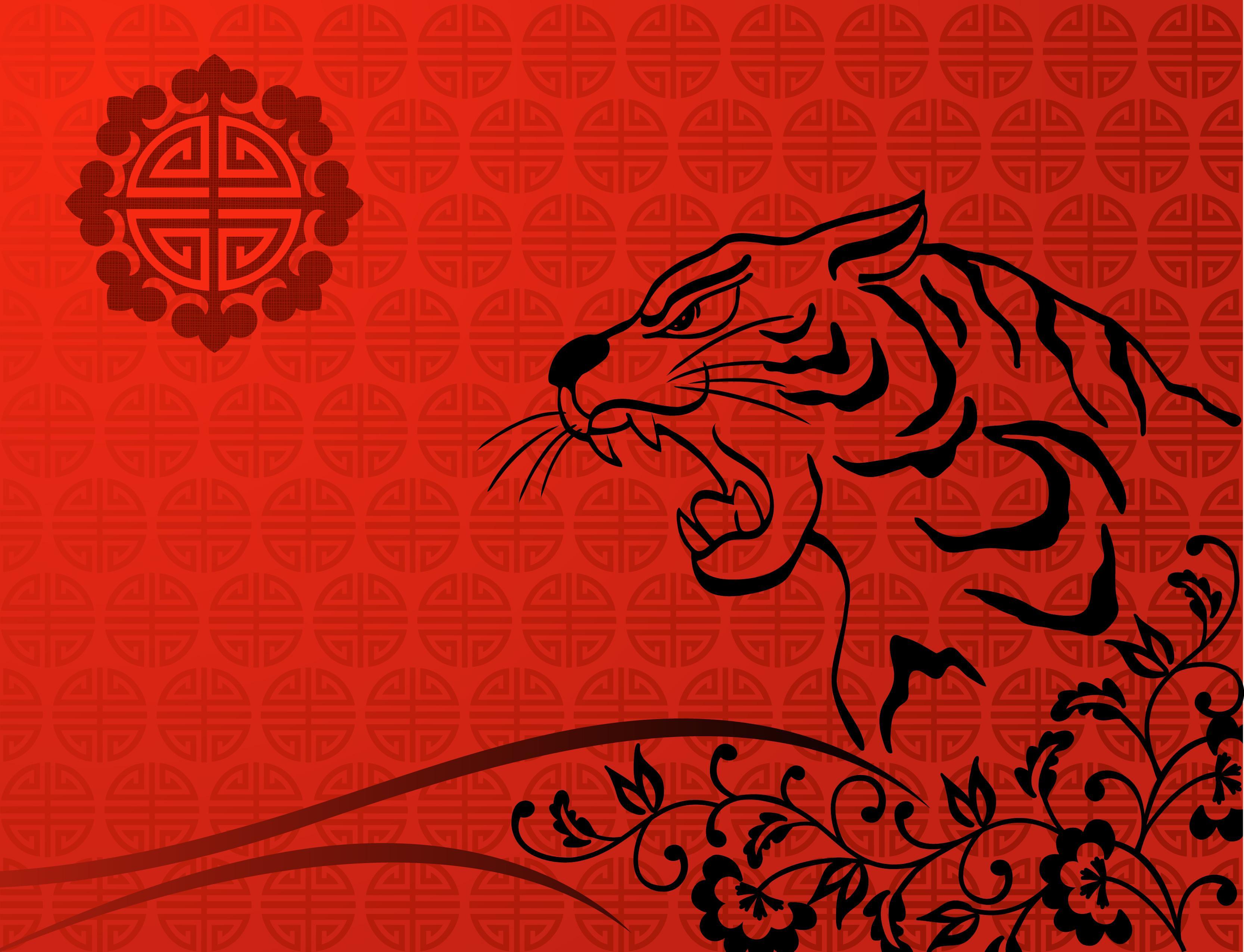 Ảnh Background cổ trang con hổ
