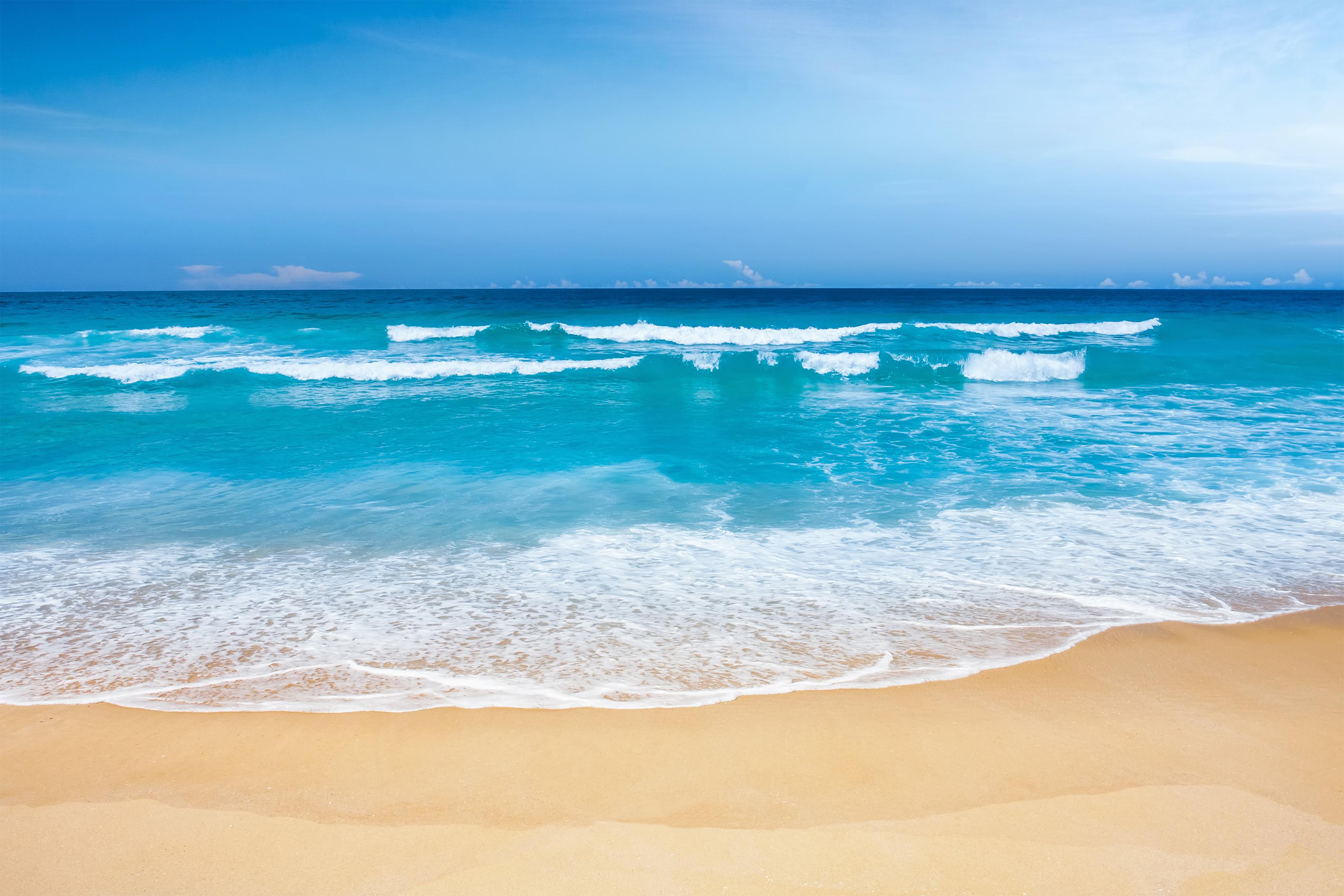 Ảnh Background phong cảnh trời xanh cát vàng