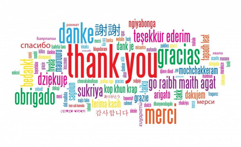 Background cảm ơn bằng nhiều ngôn ngữ