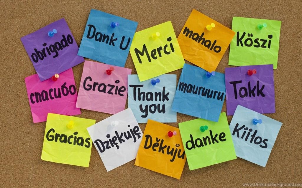 Background cám ơn bằng nhiều ngôn ngữ
