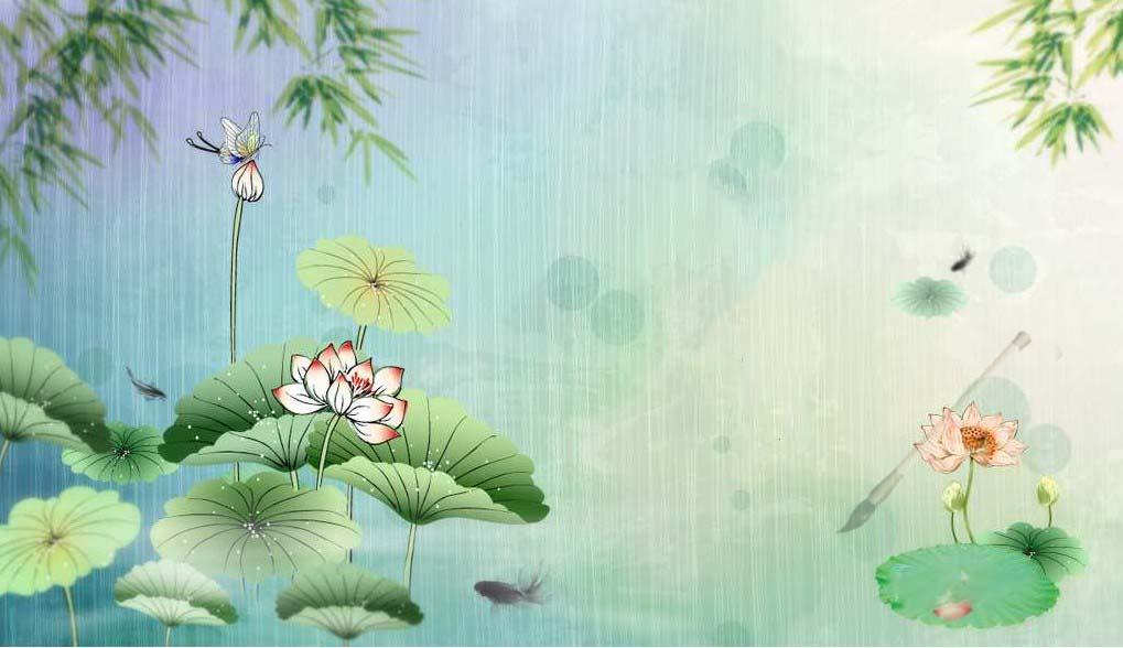 Background cổ trang hoa sen