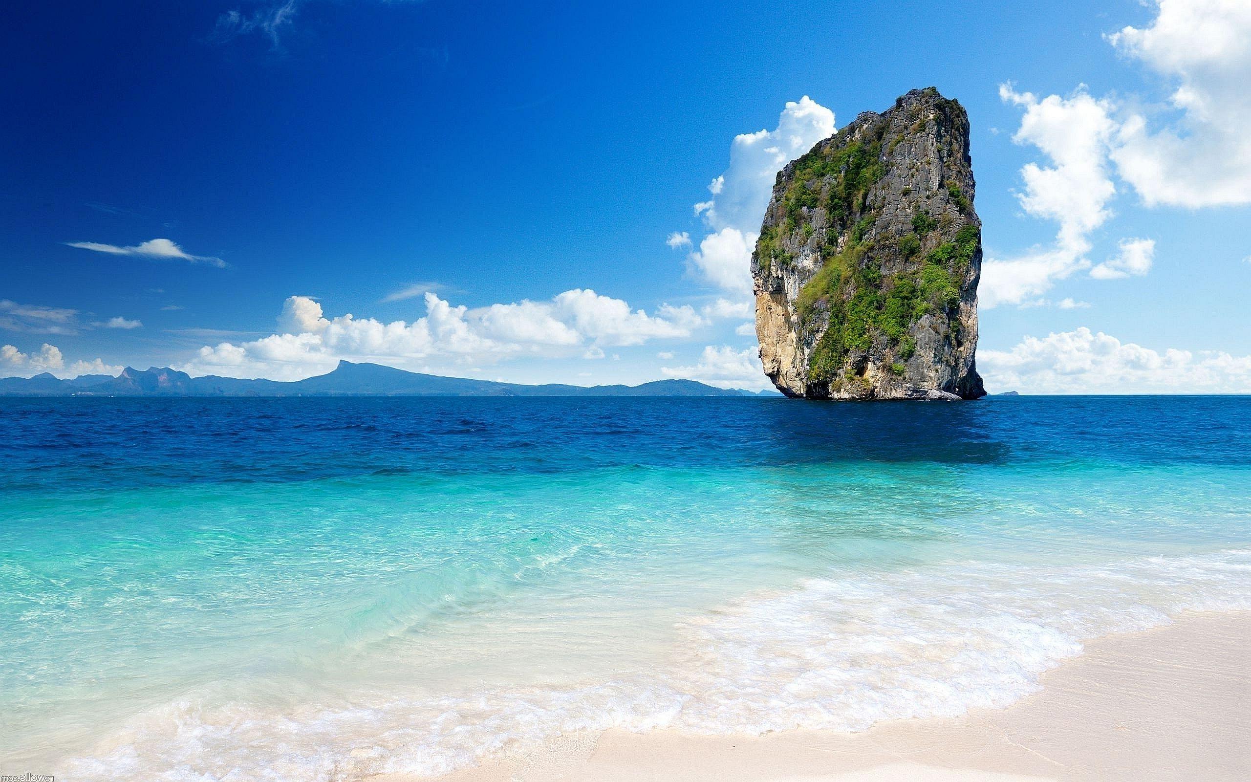 Background phong cảnh biển xanh