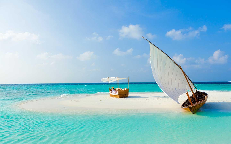 Background phong cảnh thuyền biển