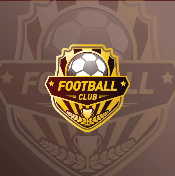 Mẫu Logo Bóng đá đơn giản