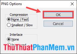 Hộp thoại PNG Options