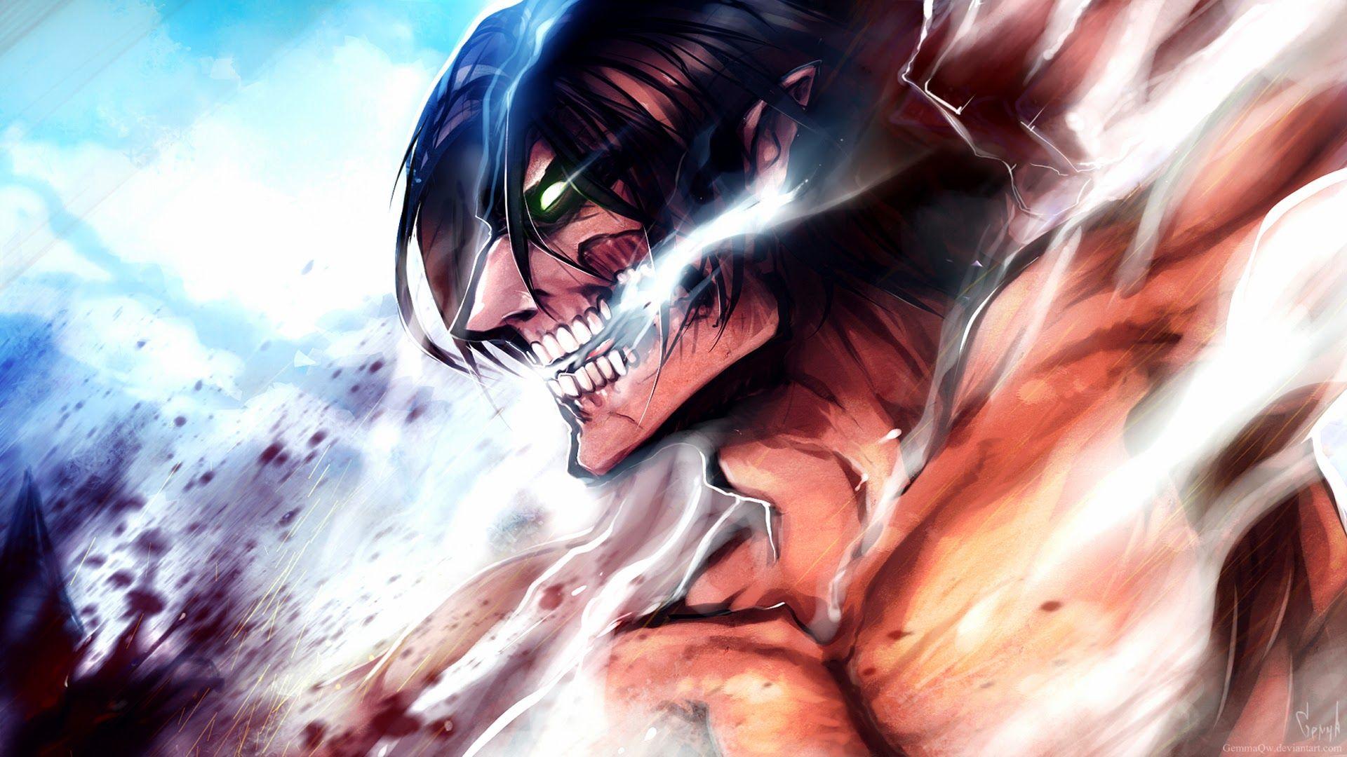 Ảnh đẹp Attack on titan eren