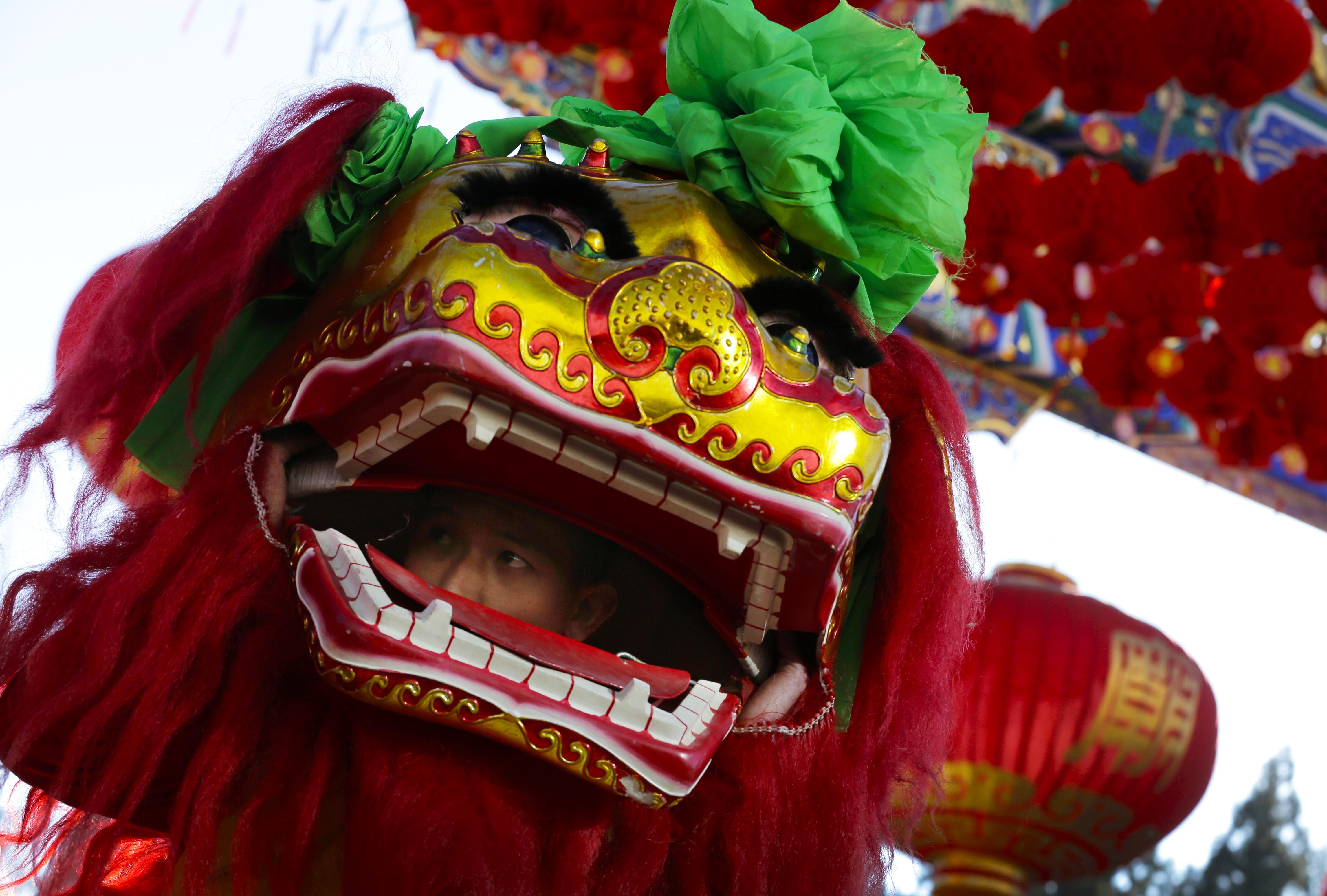 Ảnh múa Lân Trung Quốc đẹp