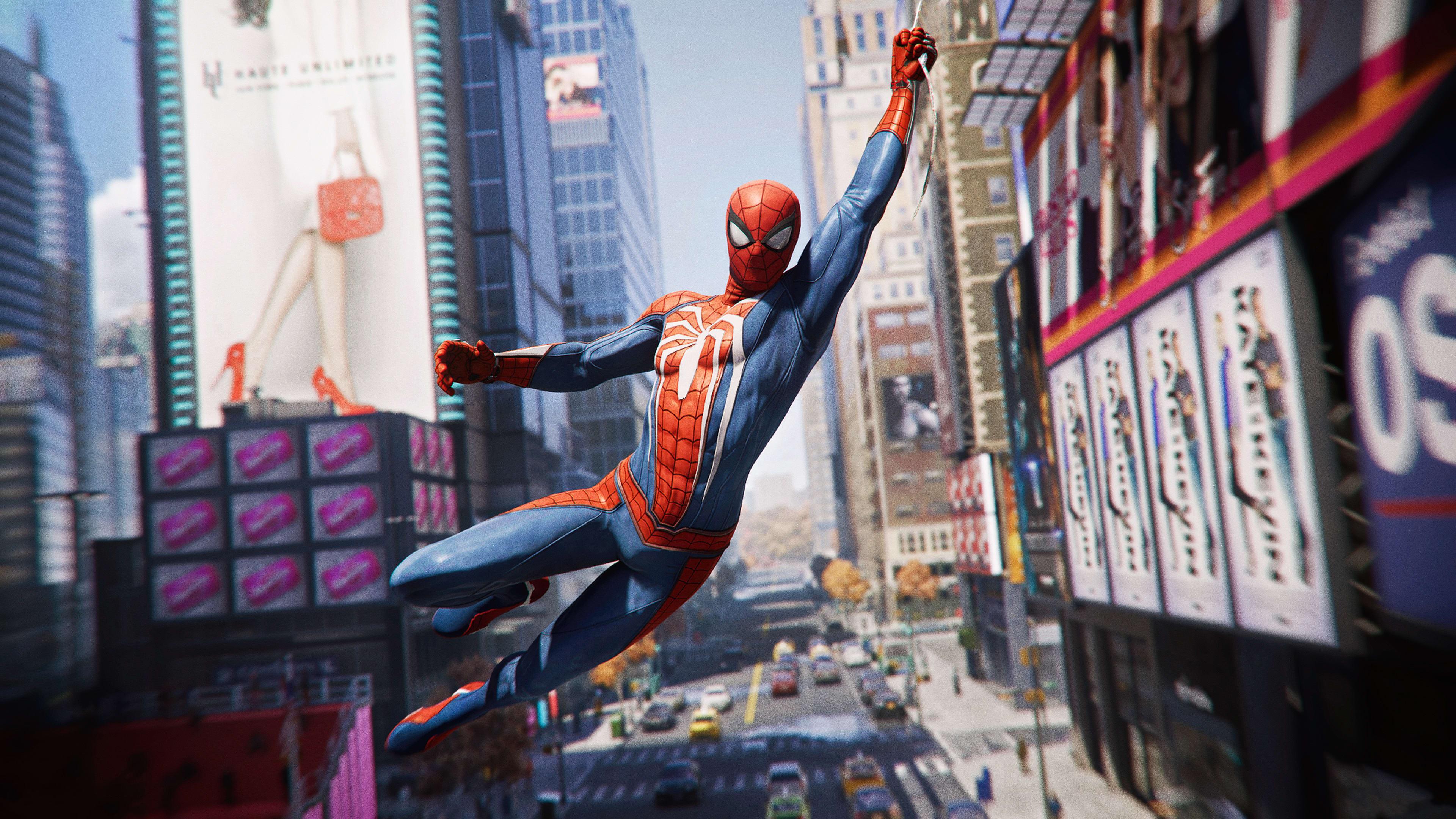 Ảnh Spider Man bay nhảy