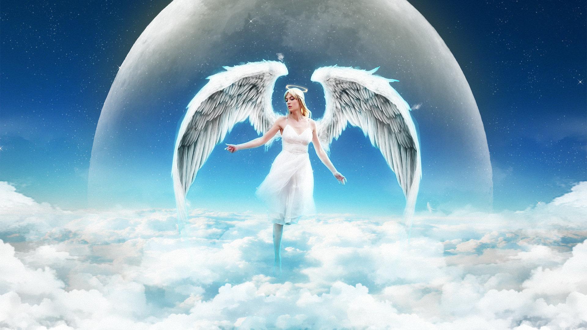 Ảnh thiên thần trong trắng