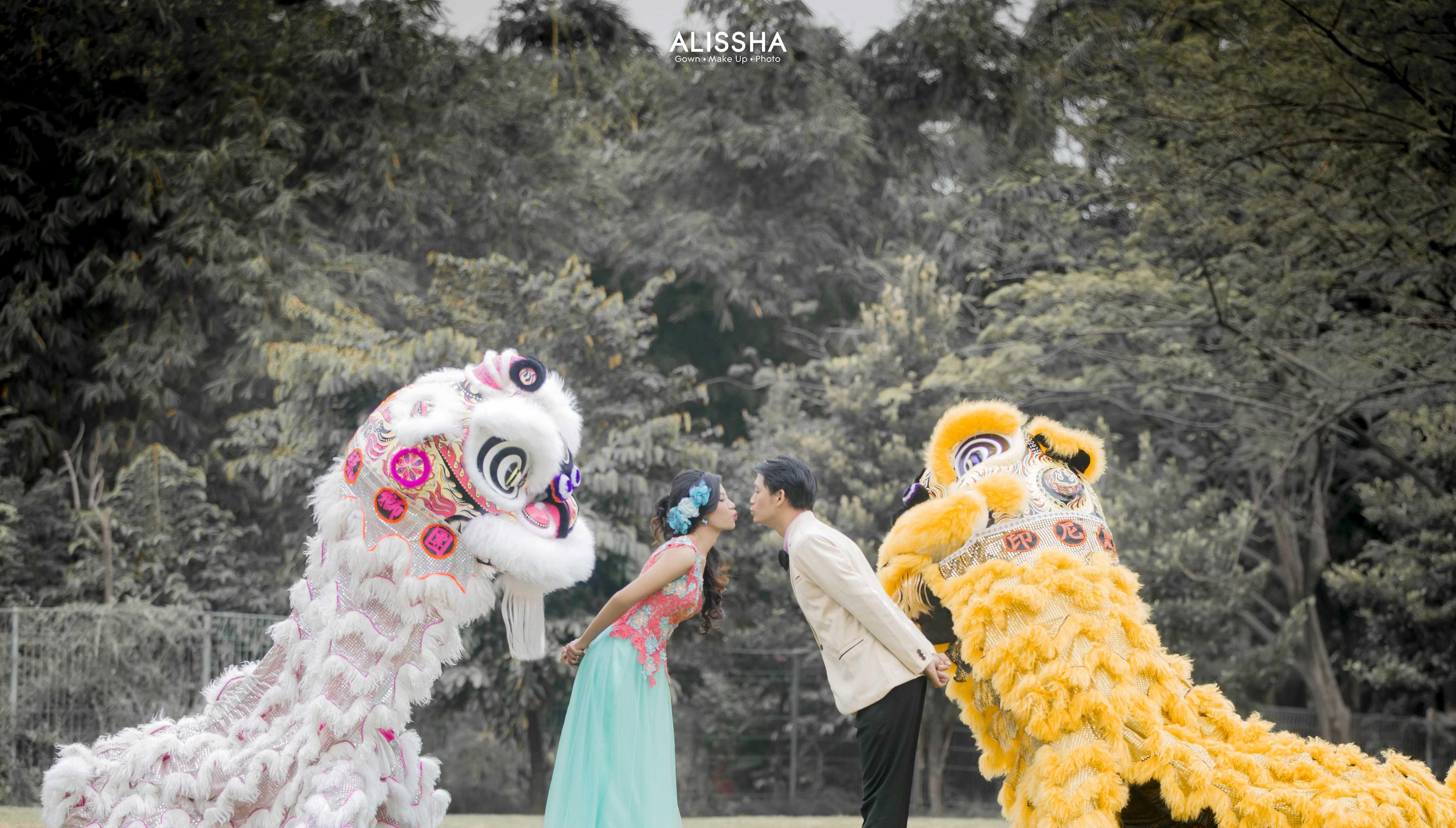 Hình ảnh đám cưới múa Lân