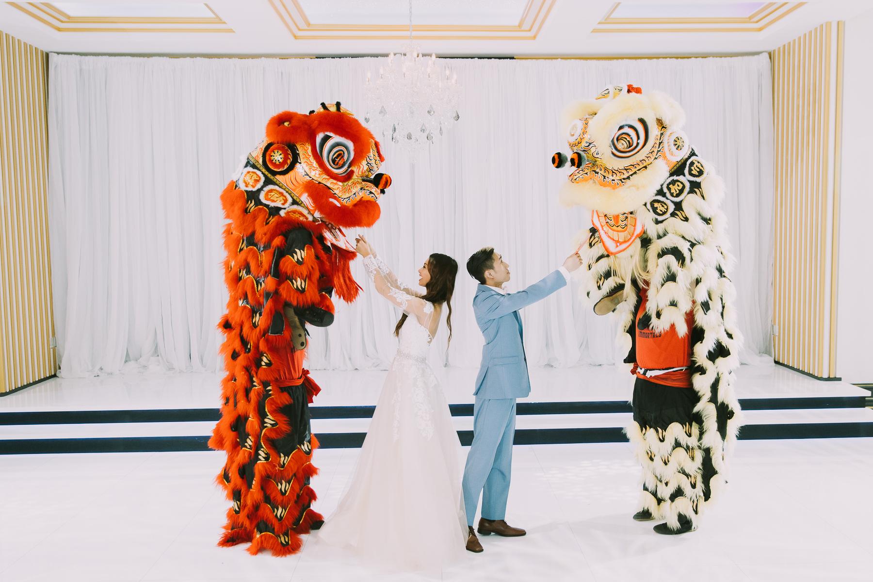 Hình ảnh múa Lân đám cưới