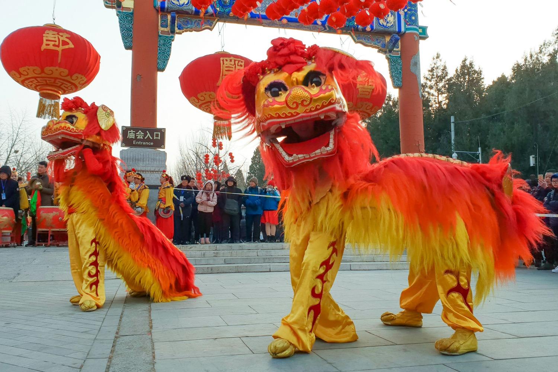 Hình ảnh múa Lân Trung Hoa