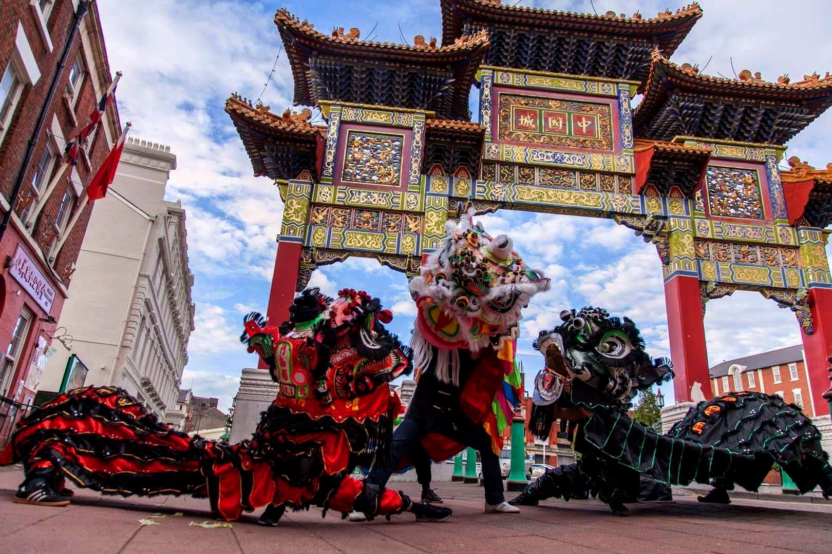 Hình ảnh múa Lân Trung Quốc