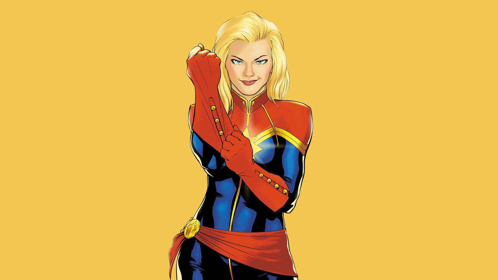 Hình ảnh nữ siêu anh hùng Captain Marvel