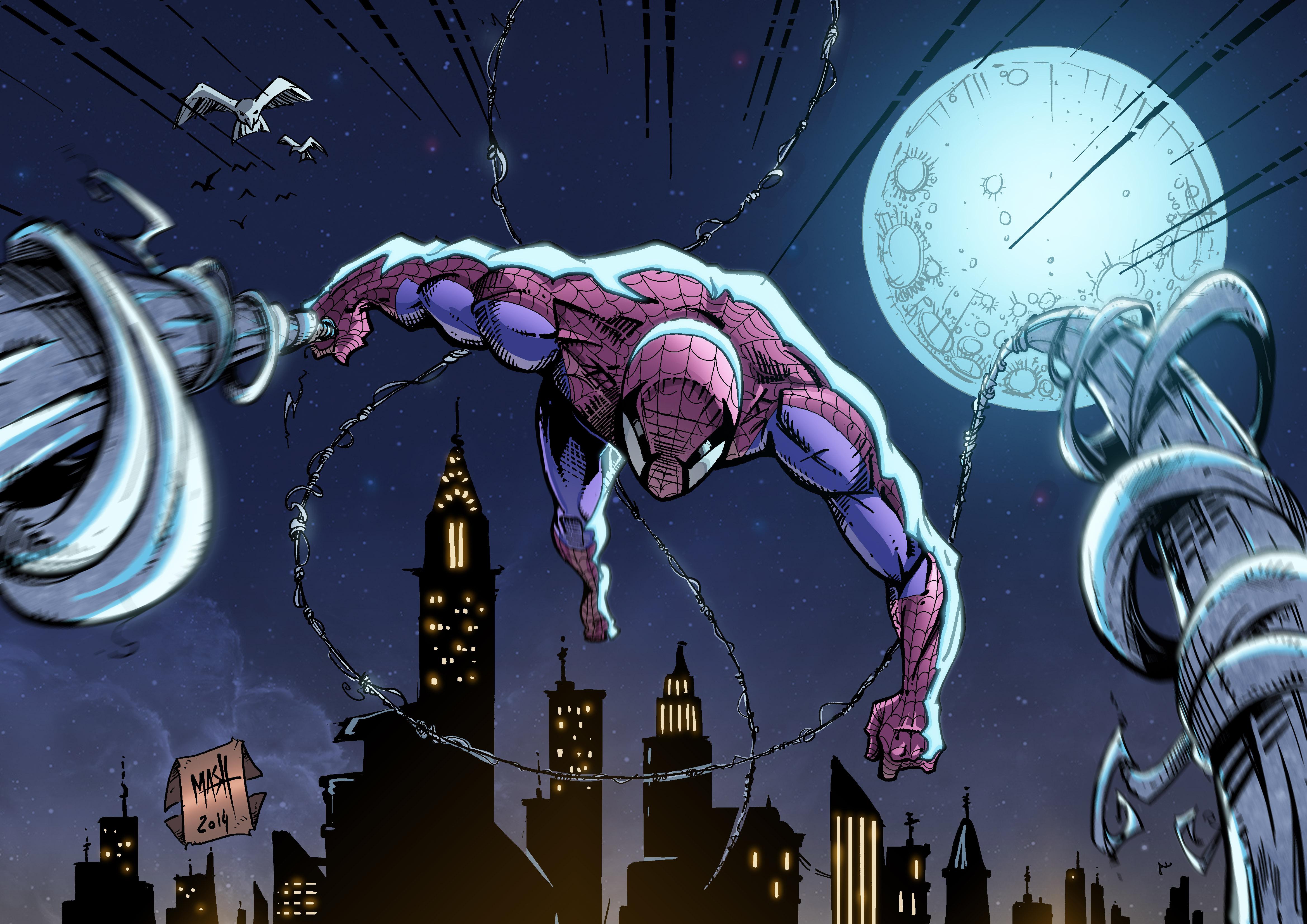 Hình ảnh Spider Man bay nhảy