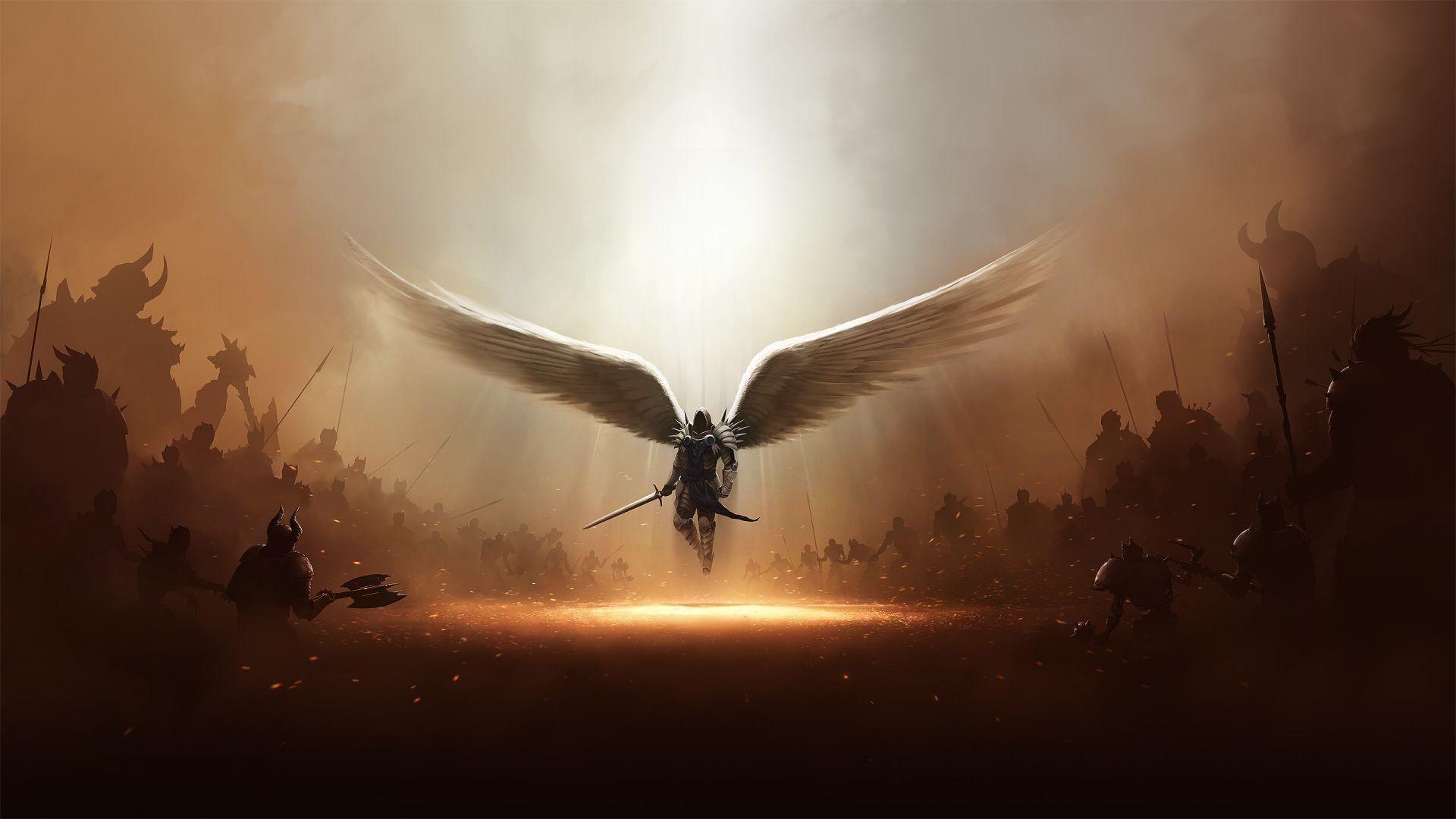Hình ảnh thiên thần chiến đấu đẹp